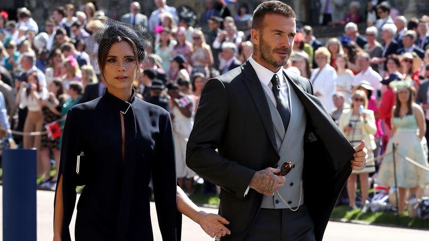 Victoria und David Beckham auf der Hochzeit von Prinz Harry und Herzogin Meghan