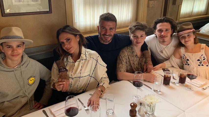 Victoria und David Beckham mit ihren Kindern
