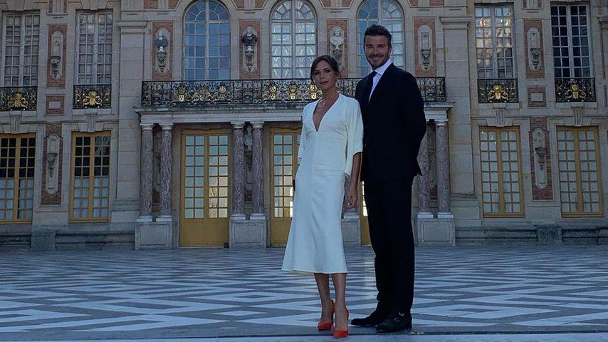 Am 20. Hochzeitstag: Beckhams besichtigen Schloss Versailles