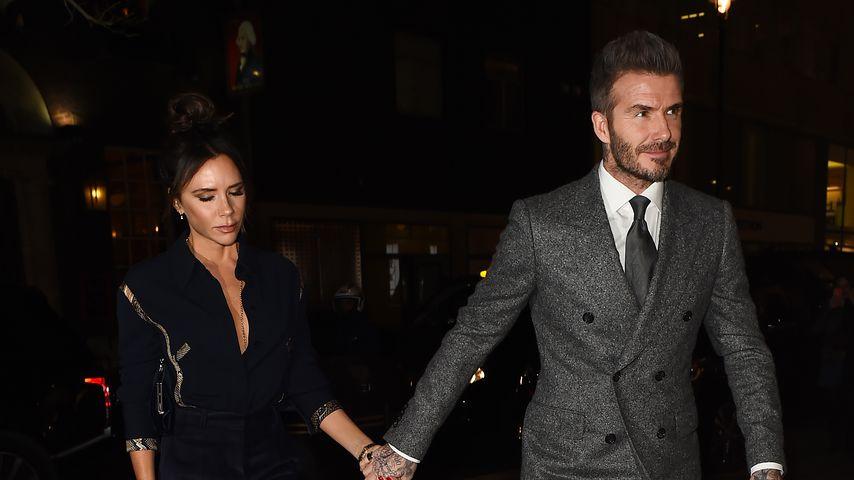 Warum so ernst, Vic? Depri-Miene bei Date mit David Beckham