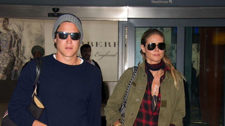 Vito Schnabel und Heidi Klum im Oktober 2016 am Flughafen in Los Angeles