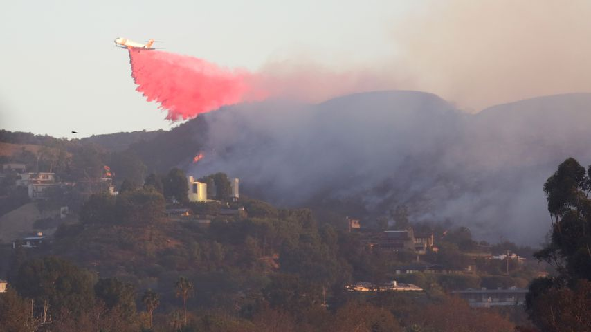 Waldbrände um Arnold Schwarzeneggers Villa, Oktober 2019