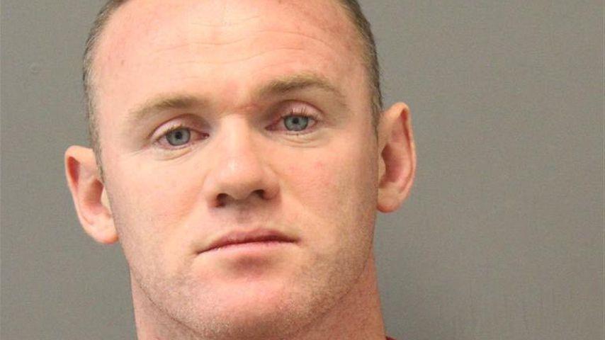 Wayne Rooney auf einem Polizei-Revier im Dezember