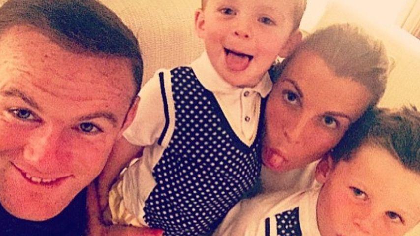 Wayne und Coleen Rooney mit ihren Söhnen