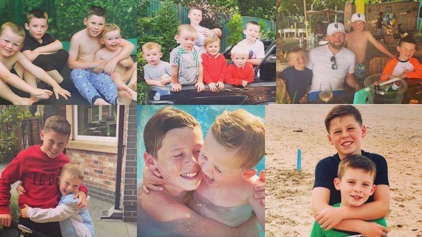 Wayne und Coleen Rooneys Kinder Kai, Klay, Kit und Cass