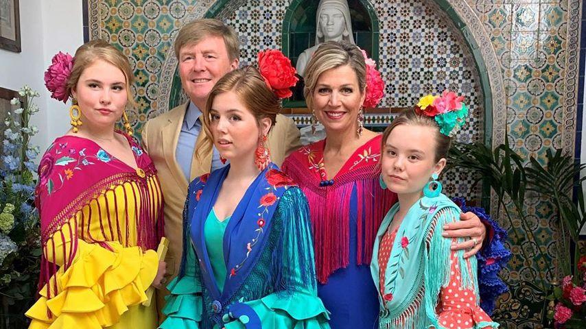 König Willem-Alexander und Königin Máxima mit ihren Töchtern Amalia, Alexia und Ariane