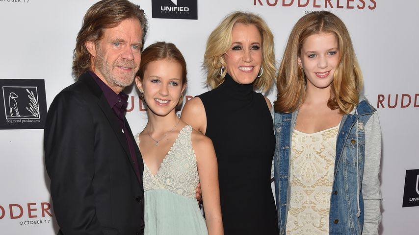 William H. Macy, Georgia Grace Macy, Felicity Huffman und Sofia Grace Macy, 2014
