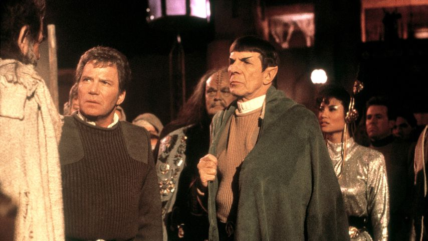 "William Shatner und Leonard Nimoy in ""Star Trek V - Am Rande des Universums"""
