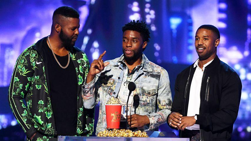 Winston Duke, Chadwick Boseman und Michael B. Jordan bei den MTV Movie & TV-Awards