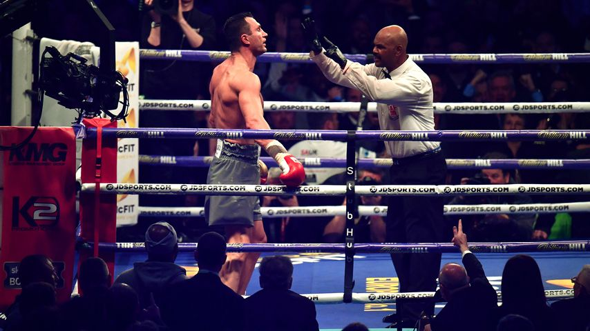 Wladimir Klitschko beim Boxkampf gegen Anthony Joshua, April 2017