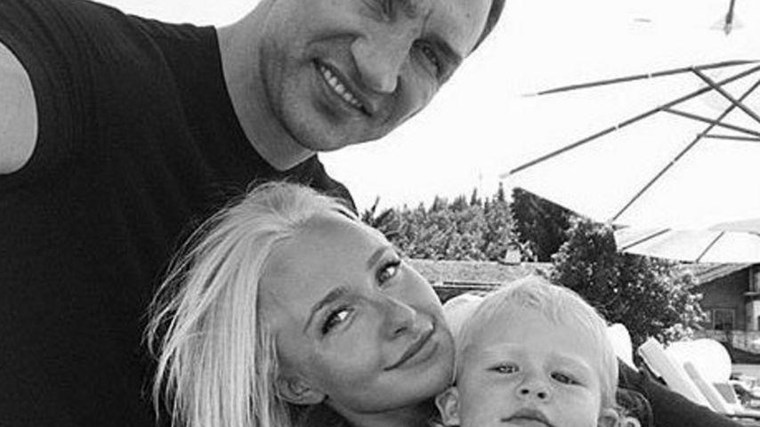 Boxer Wladimir Klitschko mit Hayden Panettiere und Tochter Kaya