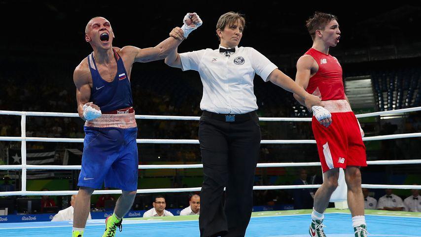 Wladimir Nikitin beim Sieg gegen Michael Conlan