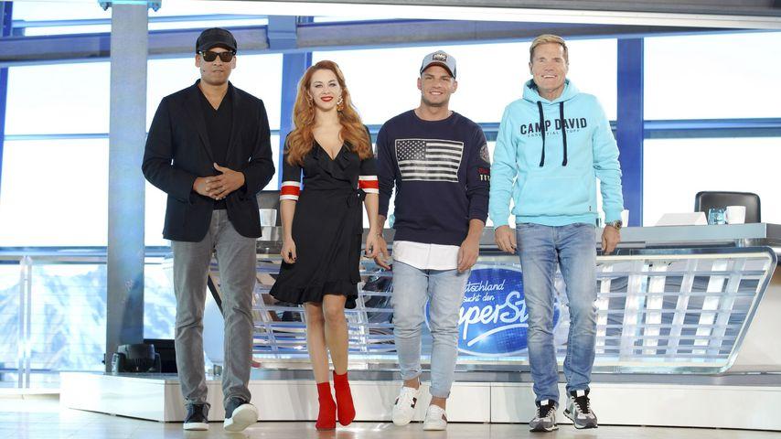 Xavier Naidoo, Oana Nechiti, Pietro Lombardi und Dieter Bohlen (DSDS-Juroren)