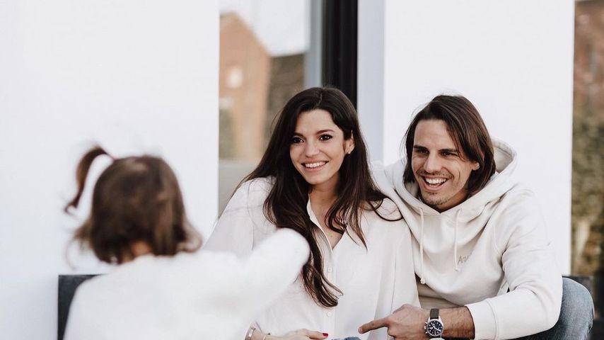 Yann Sommer mit seiner Frau Alina und Töchterchen Mila