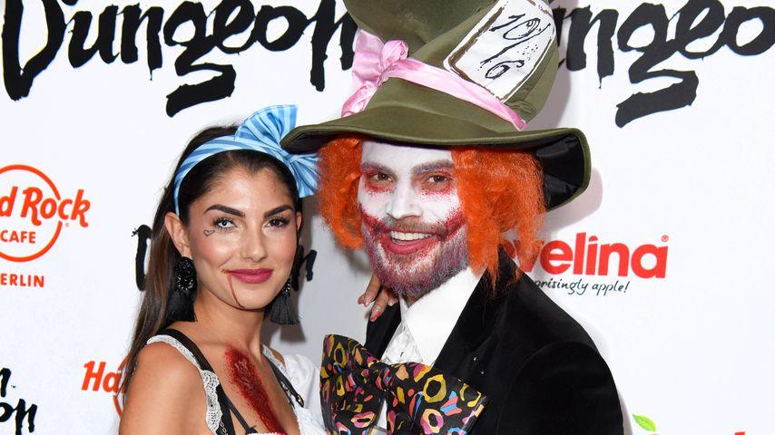 Yeliz Koc und Johannes Haller bei Halloween-Party von Natascha Ochsenknecht in Berlin