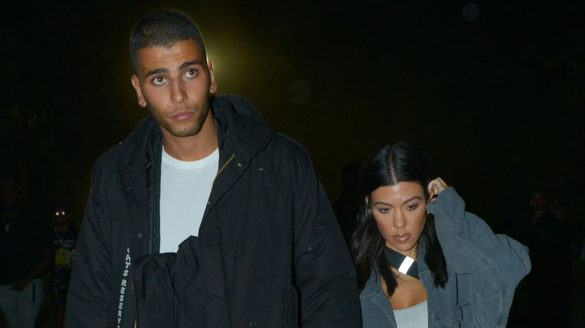 Younes Bendjima und Kourtney Kardashian im April 2018
