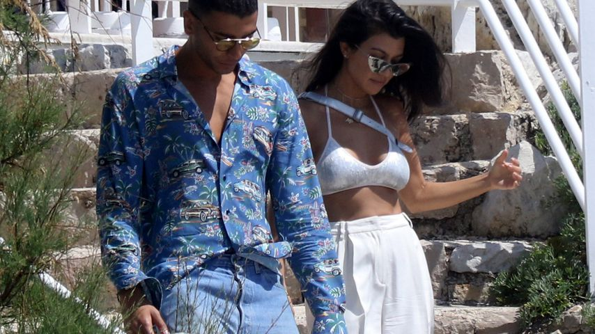 Younes Bendjima und Kourtney Kardashian in Cannes