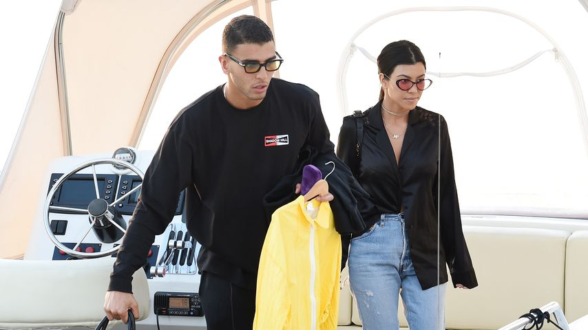 Younes Bendjima und Kourtney Kardashian in Antibes