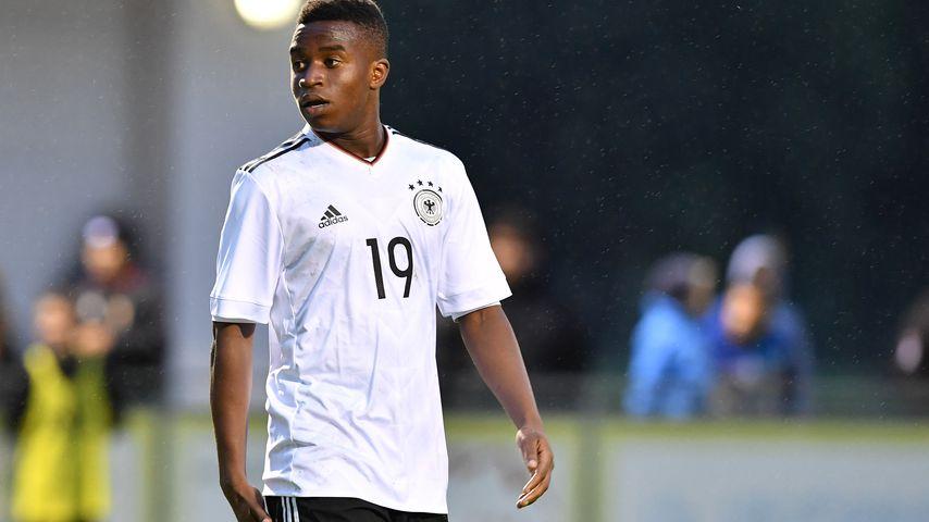 Youssoufa Moukoko beim Freundschaftsspiel der U16 gegen Österreich