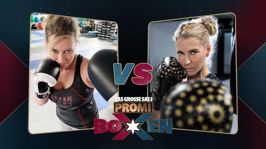 Yvonne König und Giulia Siegel, Kandidatinnen beim Promiboxen
