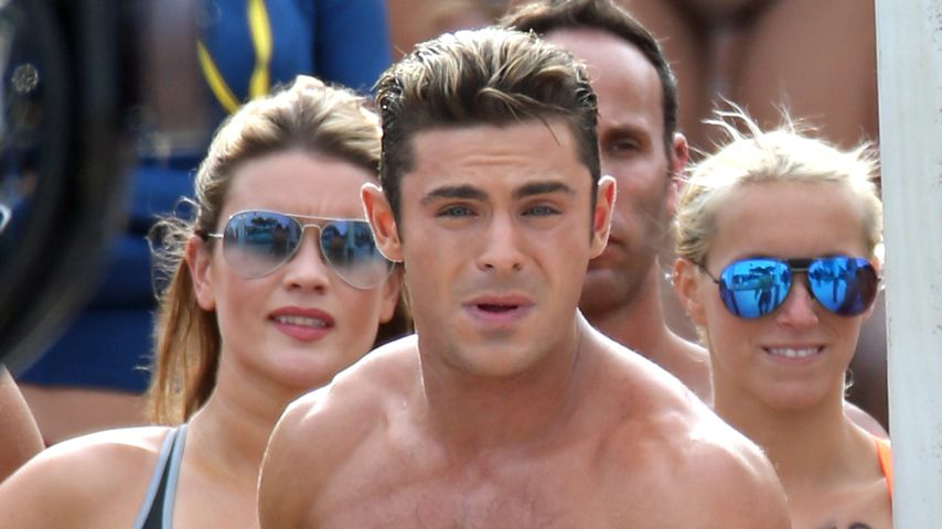 "Zac Efron am Set von ""Baywatch"""