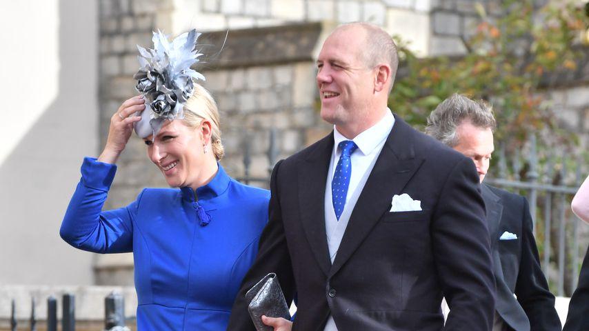 Zara und Mike Tindall bei der Hochzeit von Prinzessin Eugenie und Jack Brooksbank, 2018