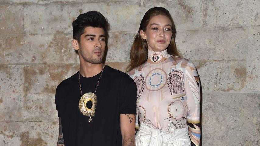 Zayn Malik and Gigi Hadid auf der Paris Fashion Week, 2016