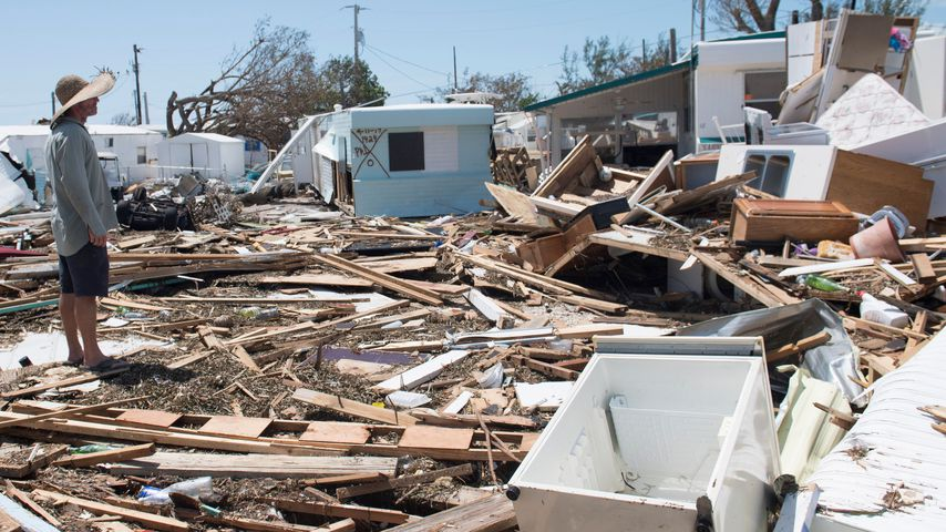 Zerstörungen des Hurricane Irma auf den Florida Keys, USA