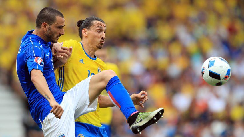 Zlatan Ibrahimovich und Leonardo Bonucci bei der EM 2016