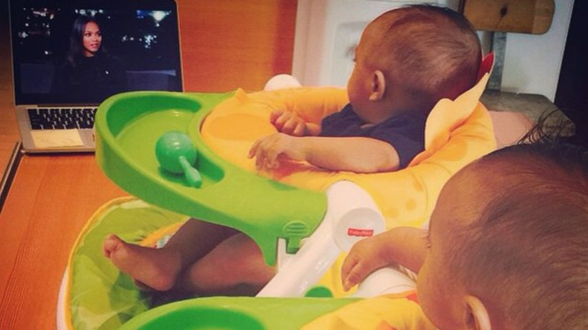 Süße Faszination! Hier sehen Zoe Saldanas Babys Mama im TV