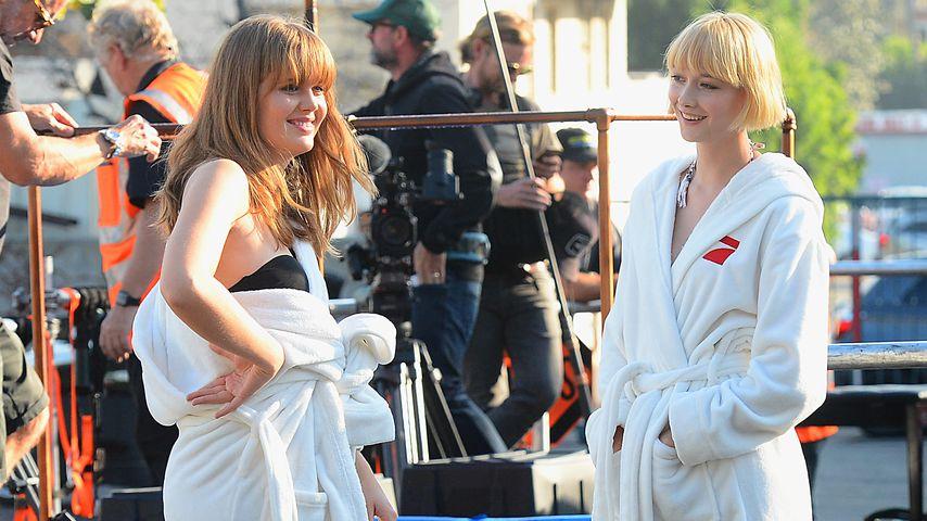 """Pia und Sally am Set der 13. """"Germany's next Topmodel""""-Staffel"""