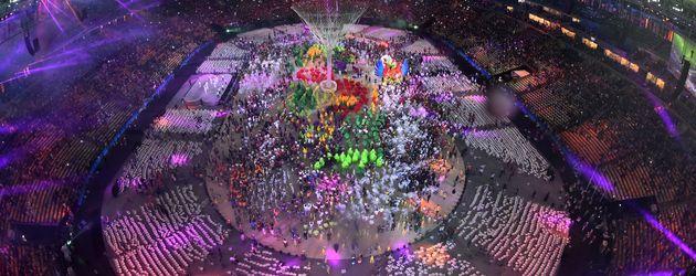 Abschlussfeier der Olympischen Spiele in Rio 2016 im Maracana Stadion