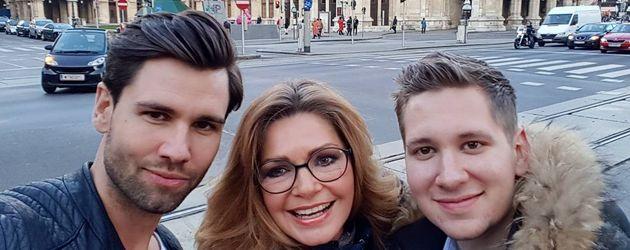 Alexander Keen mit Maren Gilzer und einem Freund in Wien