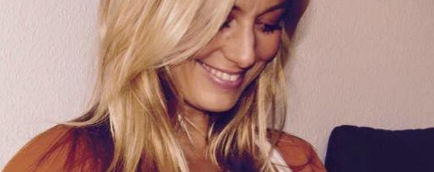 RTL-Moderatorin Angela Finger-Erben während ihrer Schwangerschaft