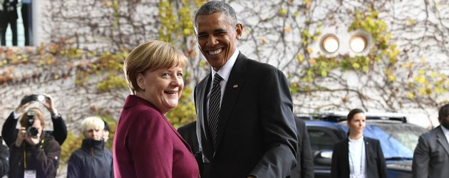 Angela Merkel und Barack Obama in Berlin