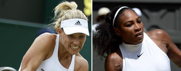 Tennis-Stars Angelique Kerber und Serena Williams