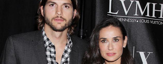 Ashton Kutcher und Demi Moore auf einer Preisverleihung in New York