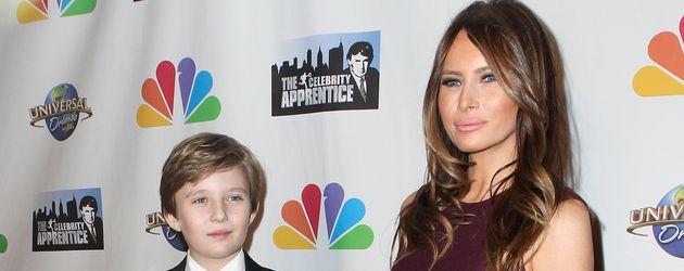 Barron Trump mit Mutter Melania in New York