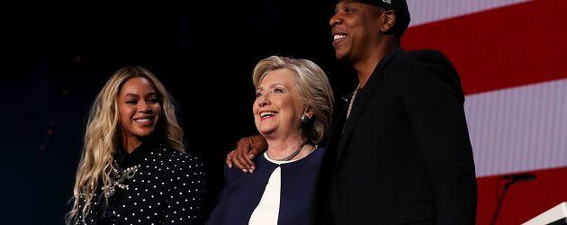 Beyoncé, Hillary Clinton und Jay-Z in Cleveland