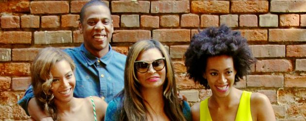 Beyonce, Jay-Z, Solange Knowles und Tina Knowles