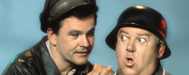 """Bob Crane und John Banner in """"Ein Käfig voller Helden"""""""