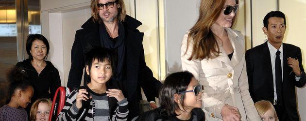 Angelina Jolie, Shiloh Jolie-Pitt, Brad Pitt und Vivienne Jolie-Pitt
