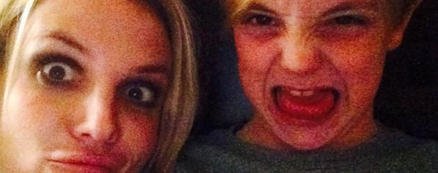 Britney Spears, mit einem ihrer zwei Söhne