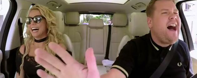 Britney Spears und James Corden beim Carpool Karaoke