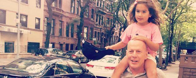 Bruce Willis mit seiner Tochter Mabel