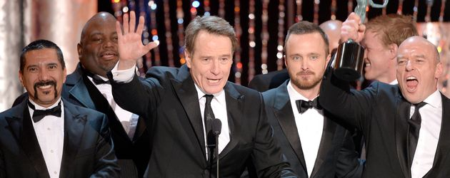"""Breaking Bad""-Kollegen Bryan Cranston, Aaron Paul und Dean Norris beim Screen Actors Guild Award"