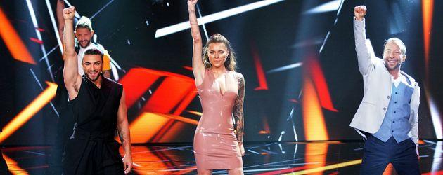 "Cale Kalay, Sophia Thomalla und DJ Bobo auf der ""Dance Dance Dance""-Bühne"