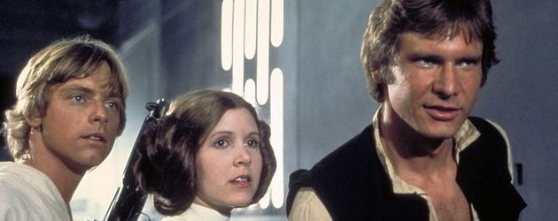 "Harrison Ford und Carrie Fisher in ""Star Wars"""