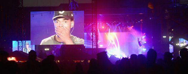 Chance the Rapper auf einem Konzert in Philadelphia