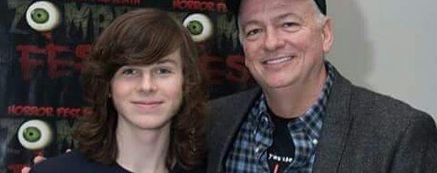 Chandler Riggs mit seinem Vater William Riggs